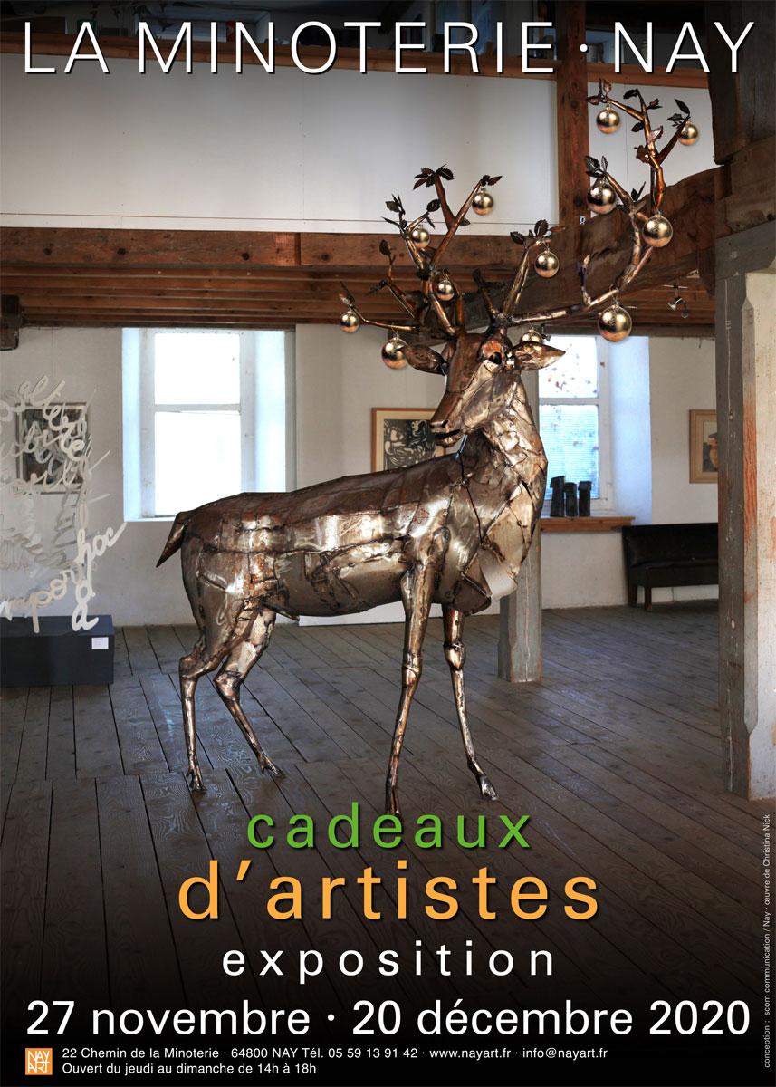 """exposition """"cadeaux d'artistes 2020"""""""